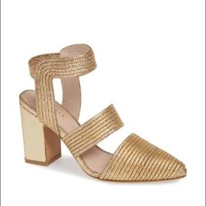 Cecelia New York | Roxanne Sandal Gold Leather 10